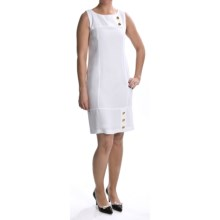 Karin Stevens Sheath Dress - Sleeveless (For Women) in White - 2nds