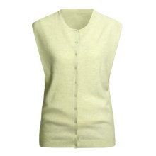 Karoo Cashmere Vest - Button Front (For Women) in Seafoam - Closeouts