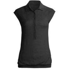 Karoo Polo Shirt - Cashmere, Sleeveless (For Women) in Black - Closeouts