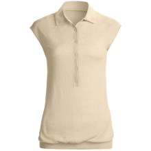 Karoo Polo Shirt - Cashmere, Sleeveless (For Women) in White - Closeouts
