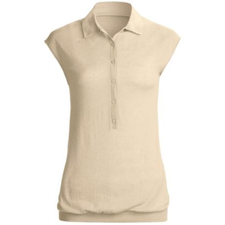 Karoo Polo Shirt - Cashmere, Sleeveless (For Women) in White