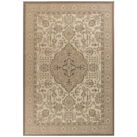 """Kas Medallion Morocco Flatweave Scatter Accent Rug - 3'3""""x4'11"""", Ivory-Biege in Ivory/Biege Morocco"""