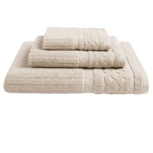 Kassadecor Cable Rib Hand Towel - 550gsm Cotton in Latte - Overstock