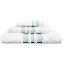 Kassadecor Chelsea Bath Towel - Cotton Terry Jacquard in White/Breeze