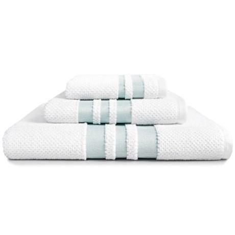 Kassadecor Chelsea Bath Towel - Cotton Terry Jacquard in White/Mink