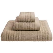 Kassadecor Irvine Stripe Terry Jacquard Hand Towel in Mink - Overstock