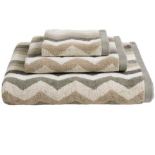 Kassadecor Lewis Stripe Terry Jacquard Bath Towel - 600gsm in Neutral - Overstock