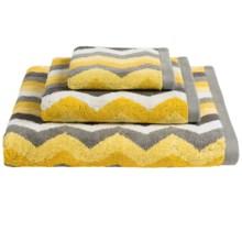 Kassadecor Lewis Stripe Terry Jacquard Bath Towel - 600gsm in Yellow - Overstock