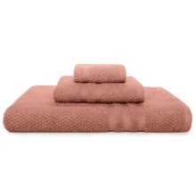 Kassaspa Zero Twist Cotton Bath Towel - Rice Weave in Cayenne - Overstock