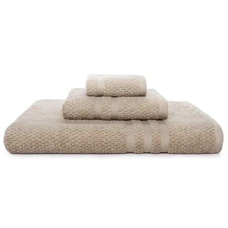 KassaSpa Zero Twist Cotton Bath Towel - Rice Weave in Mink