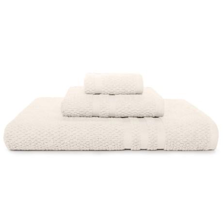 KassaSpa Zero Twist Cotton Bath Towel - Rice Weave in Off White