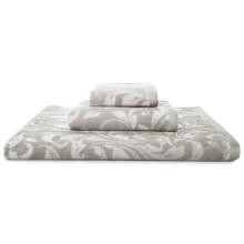Kassatex Bedminster Scroll Washcloth - 600gsm Cotton Jacquard in Flint Grey - Closeouts