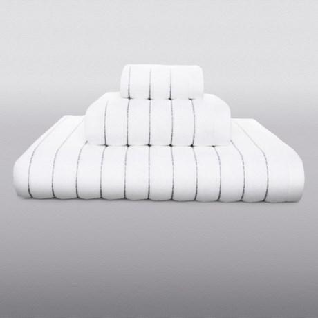 Kassatex Fine Ring-Spun Cotton Washcloth - 600gsm, Luxury Stitch in Bark