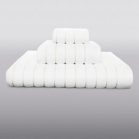 Kasstex Fine Ring-Spun Cotton Bath Towel - 600gsm, Luxury Stitch in Latte