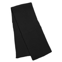 Katherine Barclay Double-Layer Scarf - Wool Blend (For Women) in Black - Closeouts