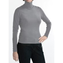 Katherine Barclay Stretch Turtleneck - Long Sleeve (For Women) in Pebble Grey - Closeouts
