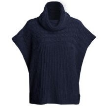 Katherine Barclay Touch of Alpaca Sweater - Cowl Neck, Short Sleeve (For Women) in Midnight - Closeouts