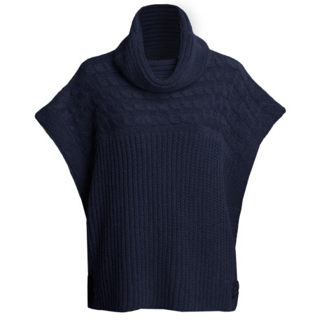 Katherine Barclay Touch of Alpaca Sweater - Cowl Neck, Short Sleeve (For Women) in Midnight