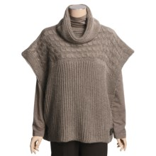 Katherine Barclay Touch of Alpaca Sweater - Cowl Neck, Short Sleeve (For Women) in Ostrich - Closeouts