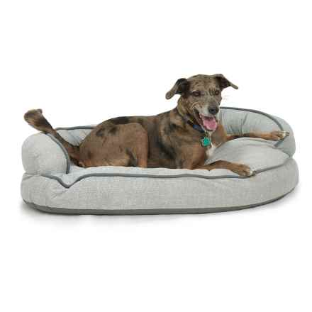 "Kathy Ireland Constant Comfort Dog Bed - 2XL, 47x30"" in Wool Tweed Grey - Closeouts"