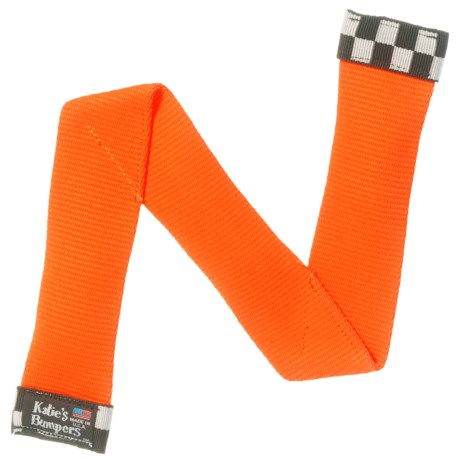 "Katie's Bumpers ""Z"" Firehose Dog Toy - Squeaker in Orange"