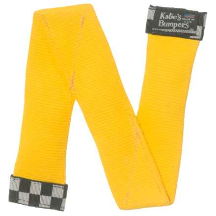"""Katie's Bumpers """"Z"""" Firehose Dog Toy - Squeaker in Yellow - Closeouts"""