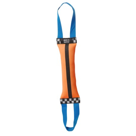KATIE'S BUMPERS DOUBLE TUG FIRE HOSE TOY in Orange/Black/Blue