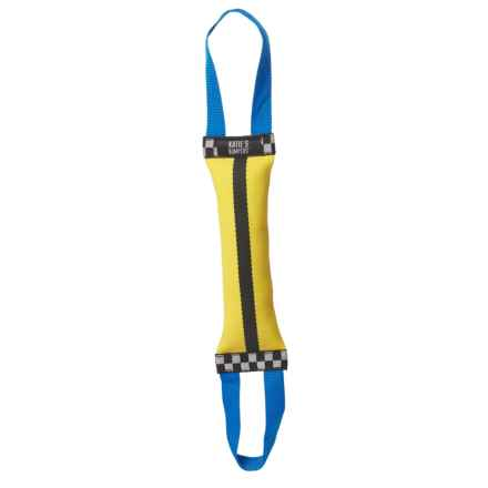 KATIE'S BUMPERS DOUBLE TUG FIRE HOSE TOY in Yellow/Black/Blue - Closeouts