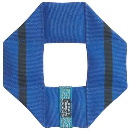 Katie's Bumpers Frequent Flyer Square Dog Toy - Fire Hose in Blue