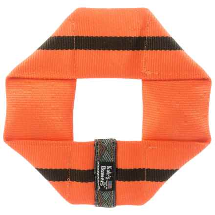 Katie's Bumpers Frequent Flyer Square Dog Toy - Fire Hose in Orange