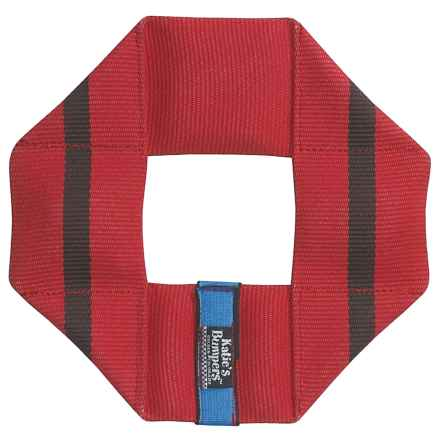 Katie's Bumpers Frequent Flyer Square Dog Toy - Fire Hose in Red