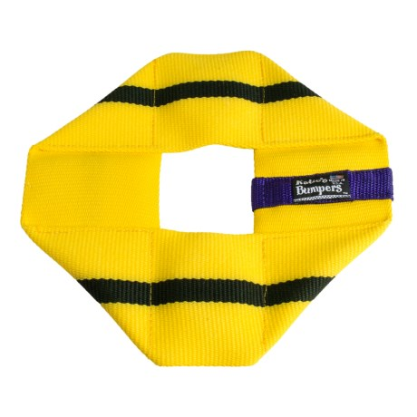 Katie's Bumpers Frequent Flyer Square Dog Toy - Fire Hose in Yellow