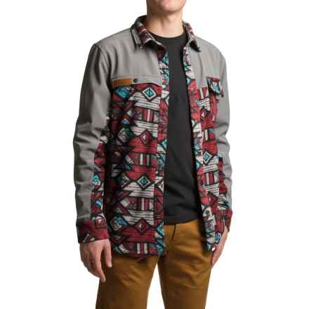 Kavu Banks Fleece Jacket - Snap Front (For Men) in Tribal Range - Closeouts