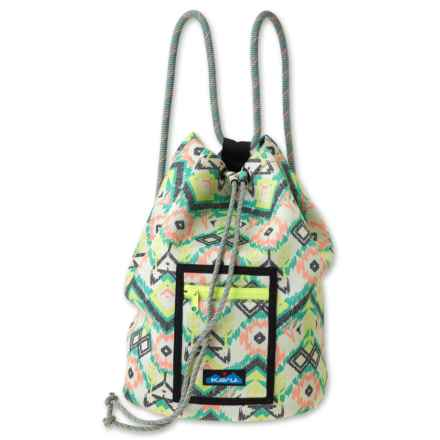 Kavu Beach Day Backpack (For Women) in Citrus Ikat - Closeouts