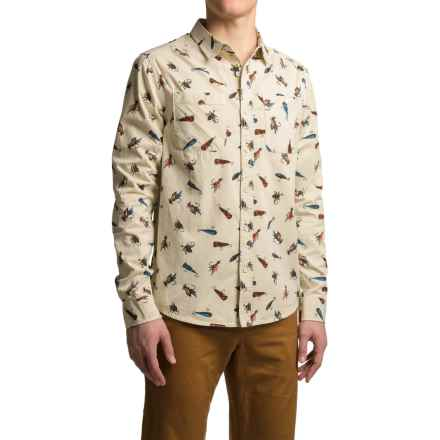 Kavu Beckler Cotton Shirt - Button Down, Long Sleeve (For Men) in Top Water - Closeouts