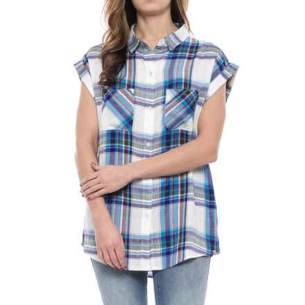 Kavu Belfair Boyfriend Shirt - Short Sleeve (For Women) in Meadow - Closeouts