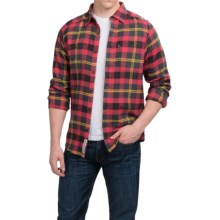 Kavu Big Joe Flannel Shirt - Long Sleeve (For Men) in Blaze - Closeouts