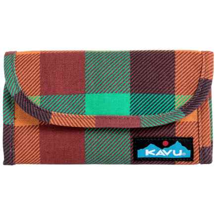 Kavu Big Spender Wallet in Check It - Closeouts