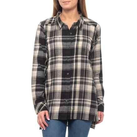 af606104adc Kavu Black Smoke Ingrid Plaid Shirt - Long Sleeve (For Women) in Black Smoke