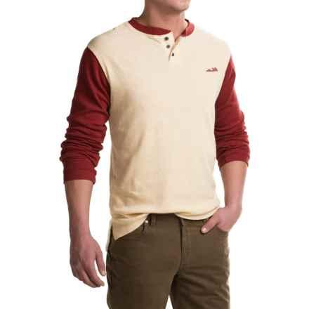 Kavu Brunswick Henley Shirt - Long Sleeve (For Men) in Varsity - Closeouts