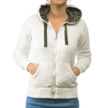 Kavu Cabin Cruzer Hoodie Sweatshirt - Full Zip, Fleece (For Women) in Cloud - Closeouts