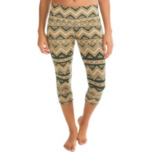 Kavu Cadence Chop Capri Leggings (For Women) in Nw Chevron - Closeouts