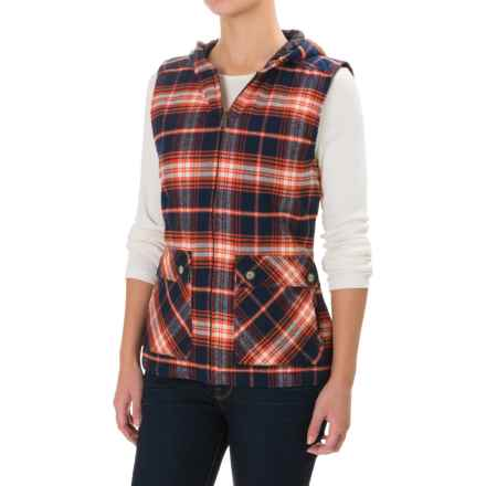 Kavu Campout Flannel Vest (For Women) in Harvest - Closeouts