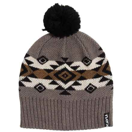 Kavu Canyon Beanie - Merino Wool Blend (For Men and Women) in Black N Tan - Closeouts