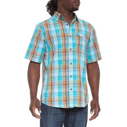 Kavu Corbin Shirt - Short Sleeve (For Men) in Marina - Closeouts