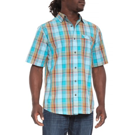 Kavu Corbin Shirt - Short Sleeve (For Men) in Marina