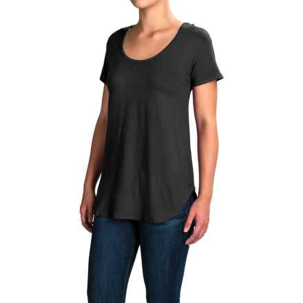 Kavu Cozumel Free Flowing Strappy-Back Shirt - Viscose, Short Sleeve (For Women) in Black - Closeouts