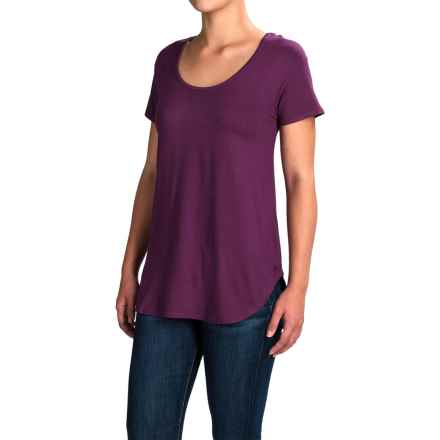 Kavu Cozumel Free Flowing Strappy-Back Shirt - Viscose, Short Sleeve (For Women) in Purple - Closeouts