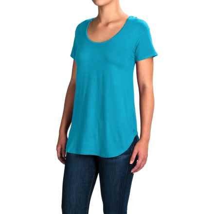 Kavu Cozumel Free Flowing Strappy-Back Shirt - Viscose, Short Sleeve (For Women) in Sea Breeze - Closeouts