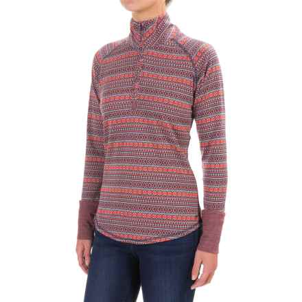 Kavu Desolate Shirt - Zip Neck, Long Sleeve (For Women) in Alpine - Closeouts